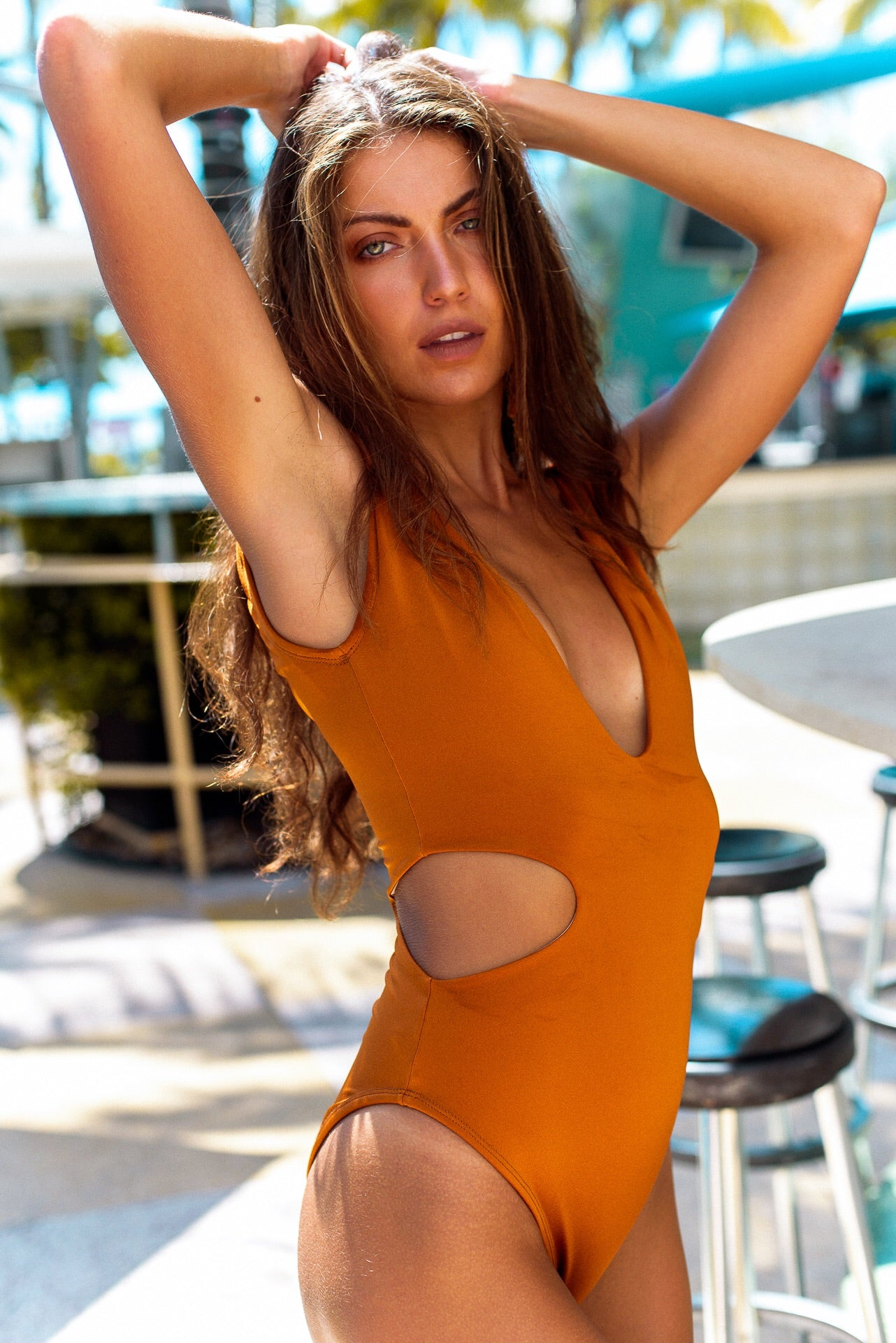 Maria One Piece Swimsuit Burnt Orange