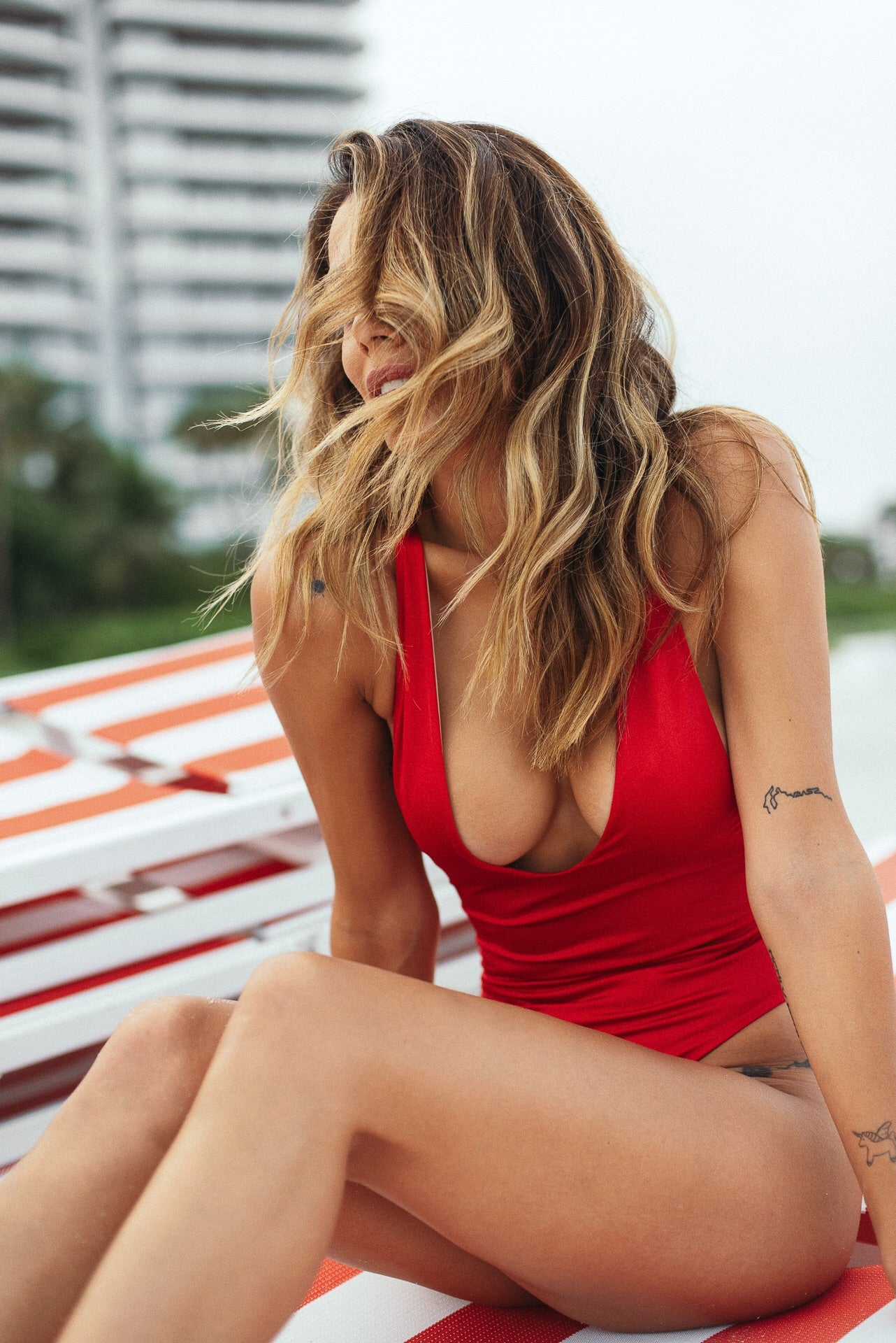 Isabella One Piece Swimsuit Cherry
