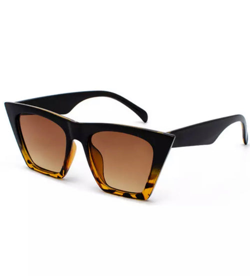 Shop Madda Sunglasses Pasta Mediun Brown and Black