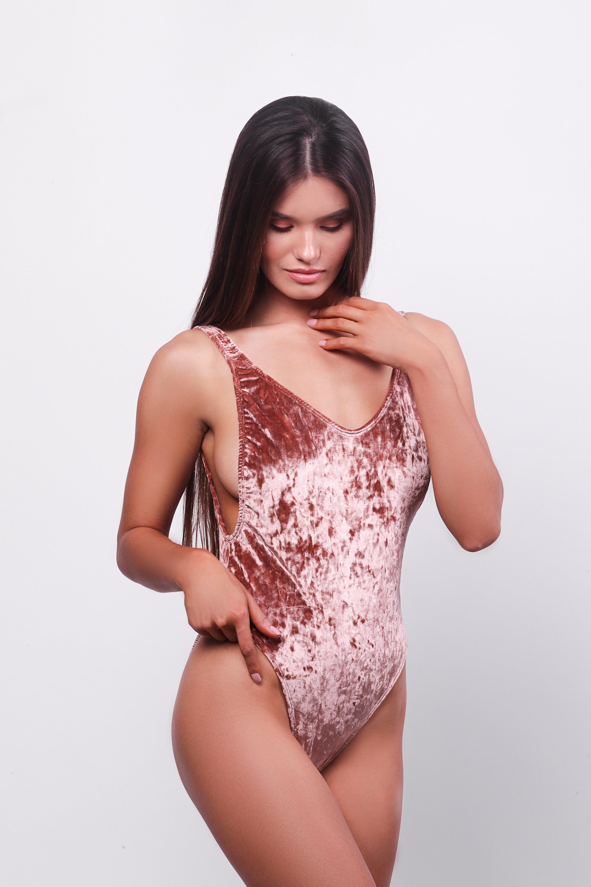 Ava One Piece Swimsuit Rose Velvet