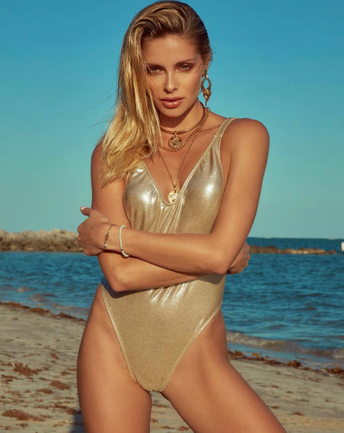 Ava One Piece Swimsuit Gold