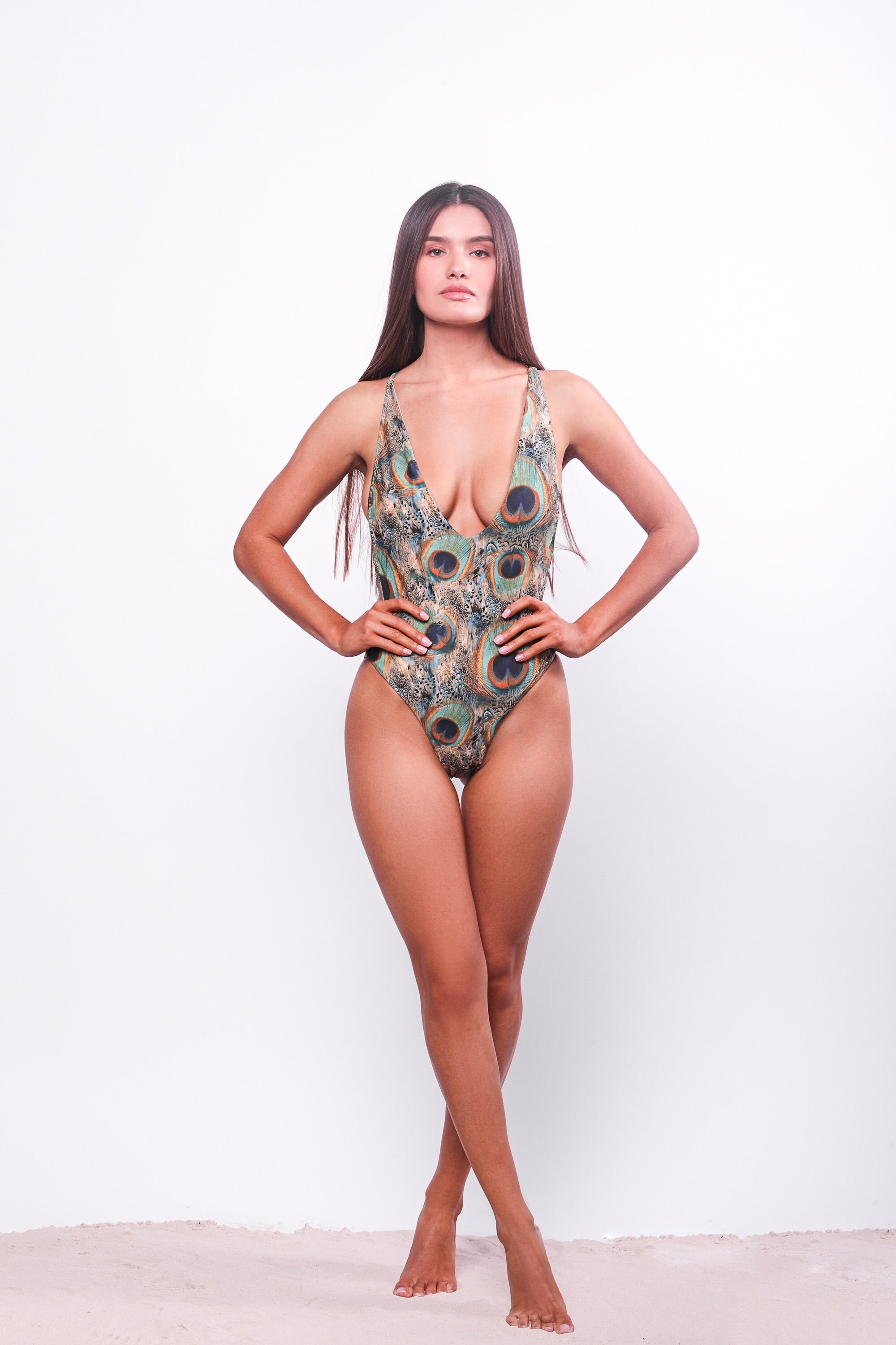 Isabella One Piece Swimsuit Peacock