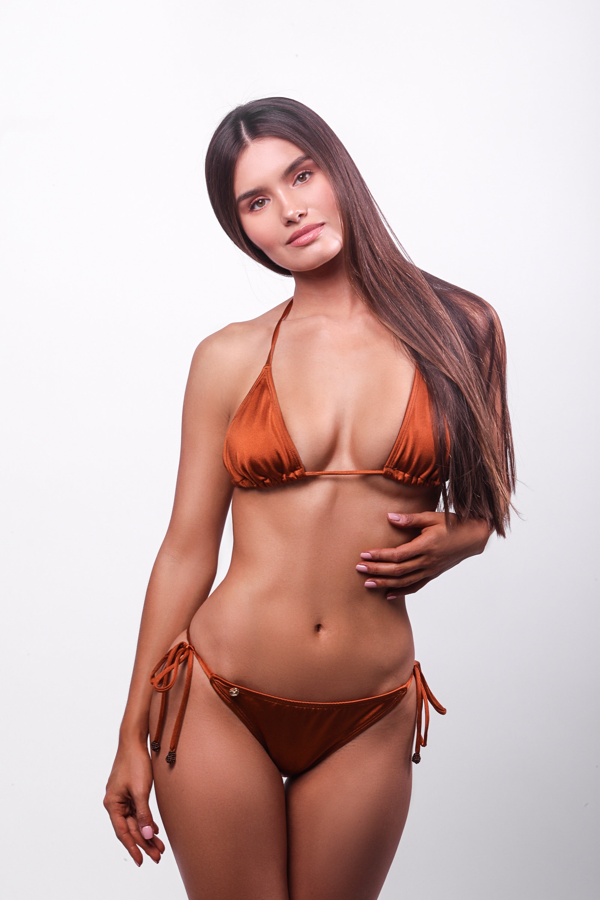 Aneessa Bikini Top Burned Orange