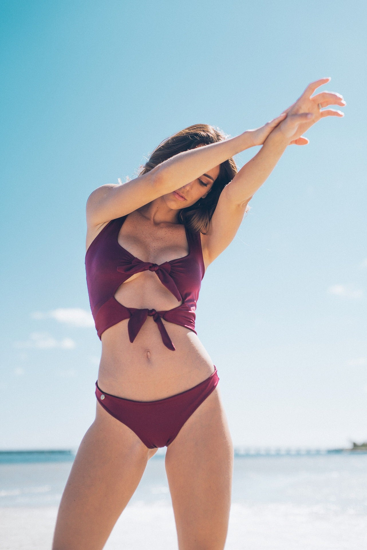 Betty Bikini Top Burgundy