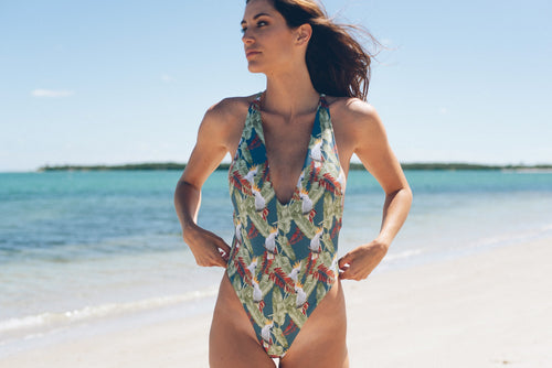 Isabella One Piece Swimsuit Cockatoo