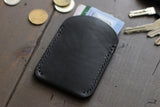 Black Leather Card Wallet - OCHRE handcrafted