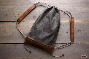 Canvas Drawstring Backpack - OCHRE handcrafted