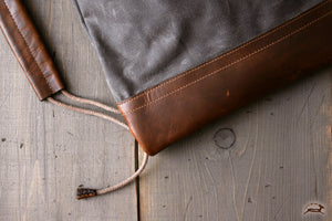 Canvas and leather tote - OCHRE handcrafted