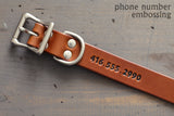 Custom Dog Collar with Emergency Contact