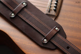 Dark Brown Leather Guitar Strap