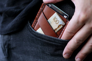 Front Pocket Card Sleeve - OCHRE handcrafted