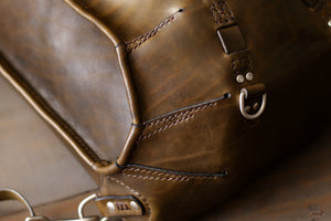 Green Leather Rucksack - OCHRE handcrafted
