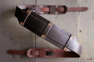 Handcrafted Leather Guitar Strap - VITAGE style