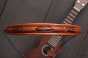 Handcrafted Leather Ukulele Strap - PILLOW style