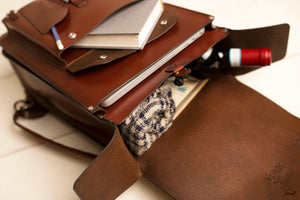 Handmade leather laptop bag - OCHRE handcrafted