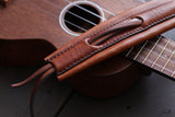 Laced Leather Uke Strap
