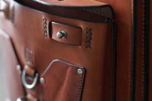Leather Backpack With Pocket - OCHRE handcrafted