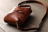 Leather Bag With bold stitch - OCHRE handcrafted