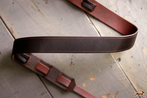 Leather Guitar Strap With Decorative Trim