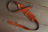 Leather Guitar Strap with Rivets