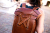 Leather rucksack outside - OCHRE handcrafted