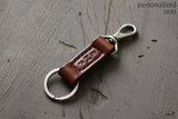 Monogrammed Leather Keychain