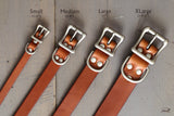 OCHRE handcrafted dog collar sizes