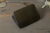 Olive Green Leather Card Wallet - OCHRE handcrafted