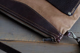 Slim Handbag YKK zipper - OCHRE handcrafted