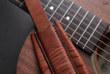 Tan Leather Guitar Strap