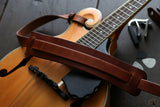 Tan Leather Mandolin Strap