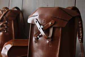 brown leather backpack- OCHRE handcrafted
