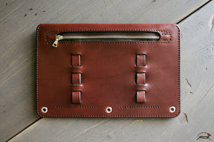 dark brown leather pencil case - OCHRE handcrafted
