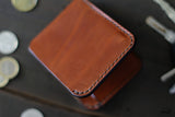 edc leather wallet - OCHRE handcrafted