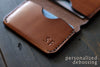 engraved leather wallet - OCHRE handcrafted