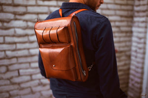 handcrafted backpack - OCHRE handcrafted