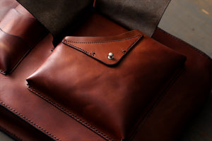 handmade bag with studs - OCHRE handcrafted