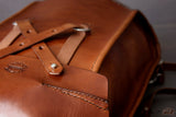 leather backpack with stud closure - OCHRE handcrafted