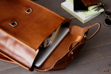 leather schoolbag - OCHRE handcrafted