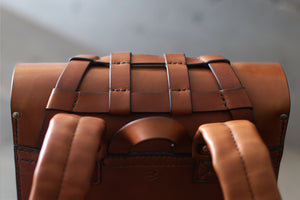 leather bag with utility webbing - OCHRE handcrafted