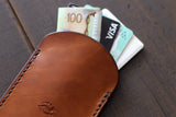 leather wallet with cards and cash - OCHRE handcrafted