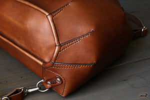 ribbed leather backpack - OCHRE handcrafted