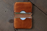 slim leather card holder - OCHRE handcrafted