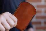 tan leather card holder - OCHRE handcrafted