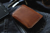 tan leather wallet denim edc - OCHRE handcrafted