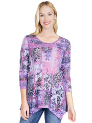 Noah Knit Burnout Asbury Tunic