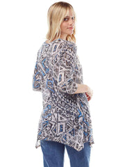 """Zenon"" Print Cotton Burnout Asbury Tunic"
