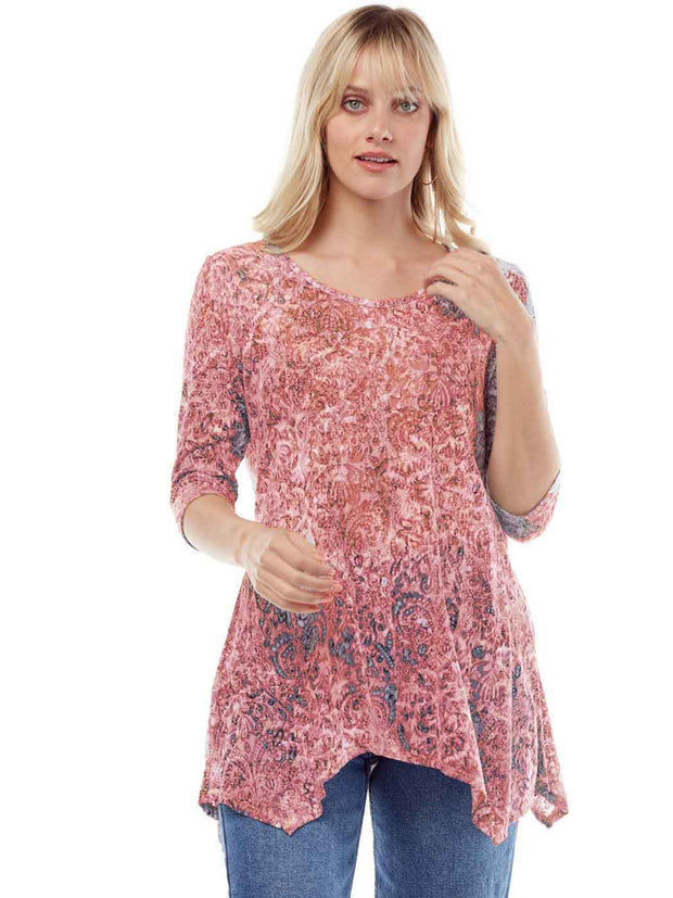 """Valencia"" Print Cotton Burnout Asbury Tunic"