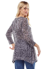 """Zephora"" Print Cotton Burnout Asbury Tunic"