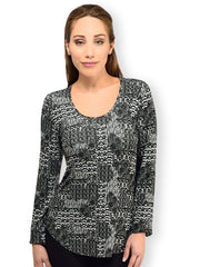 Aheni French Knit LS Koi Tunic Top - Final Sale